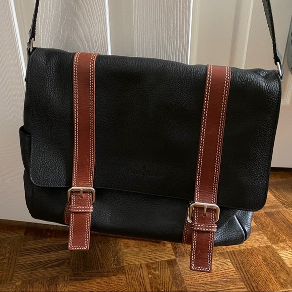 Leather Cole Haan courier bag - gently used
